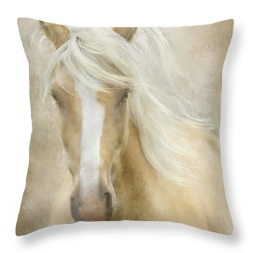Throw Pillow featuring the painting Spun Sugar by Colleen Taylor