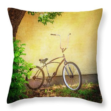 Throw Pillow featuring the photograph High Handle-bar Bicycle by Craig J Satterlee
