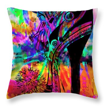High Heel Heaven Abstract Throw Pillow