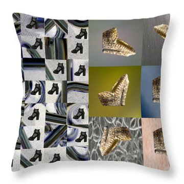 High Heel Study Throw Pillow