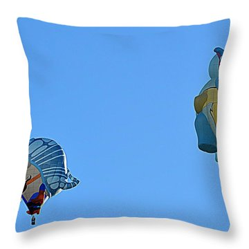 Throw Pillow featuring the photograph High Jinx by AJ Schibig