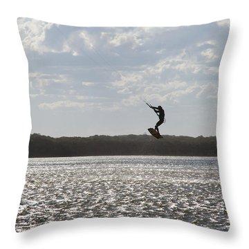 Throw Pillow featuring the photograph High Jump  by Miroslava Jurcik
