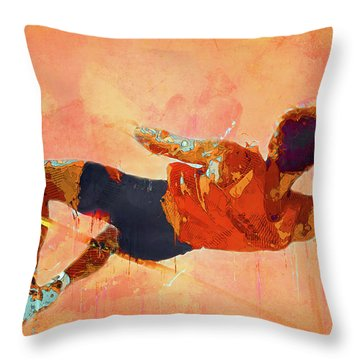 High Jumper Throw Pillow