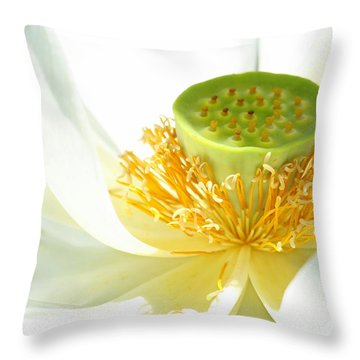 High Key Lotus Throw Pillow by Sabrina L Ryan