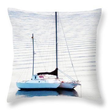 High Key Sail Throw Pillow