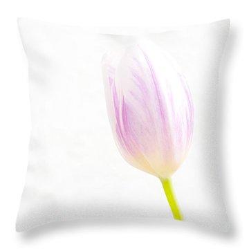 High Key Tulip Throw Pillow