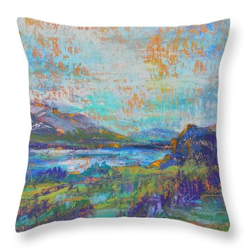 High Lake Throw Pillow
