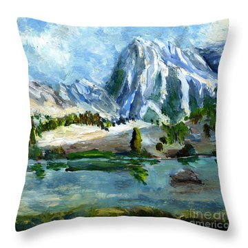 High Lake First Snow Throw Pillow