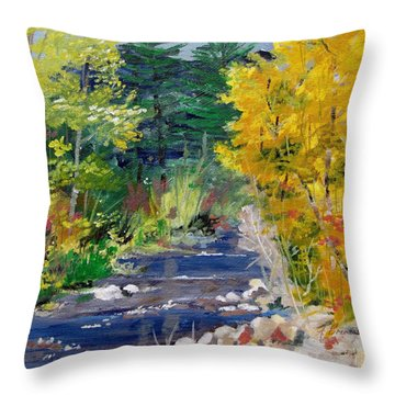 High Mountain Creek  Throw Pillow