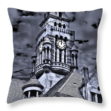 Throw Pillow featuring the photograph High Noon Black And White by Tamyra Ayles