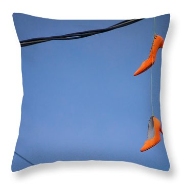 High On Orange Throw Pillow