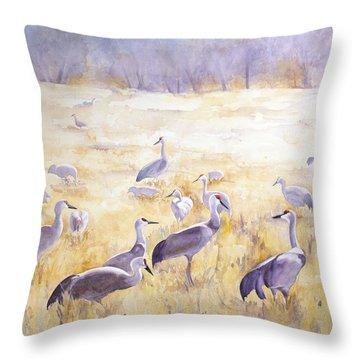 High Plains Drifters Throw Pillow