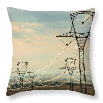 High Plains Voltage Throw Pillow