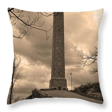 High Point Obelisk In Sepia  Throw Pillow
