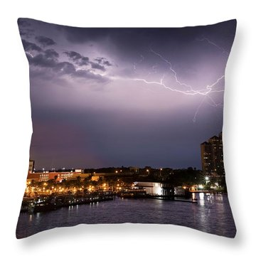 High Point Place Nights Throw Pillow
