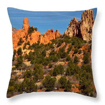 Throw Pillow featuring the photograph High Point Rock Towers by Adam Jewell