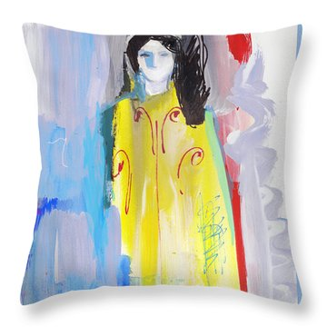 High Pristess Light Being Throw Pillow