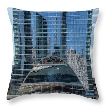 Throw Pillow featuring the photograph High Rise Reflections by Alan Toepfer