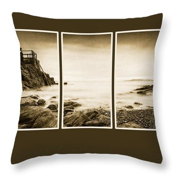 High Rock Triptych Throw Pillow