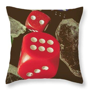 High Rollers Artwork Throw Pillow