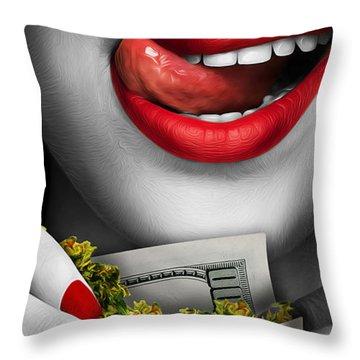 High Rollin Throw Pillow