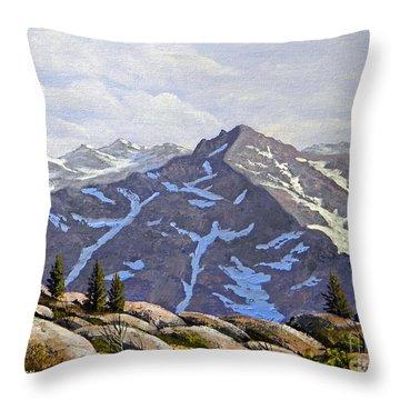 High Sierras Study Throw Pillow by Frank Wilson