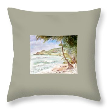 High Surf At Brewers Throw Pillow