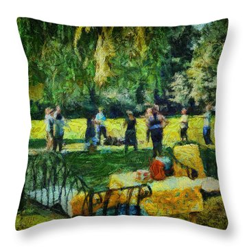 High Tea Tai Chi Throw Pillow
