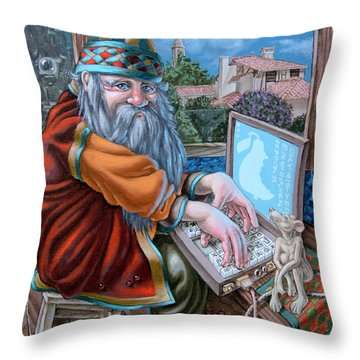 High-tech Throw Pillow