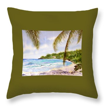 High Tide At Brewers Throw Pillow