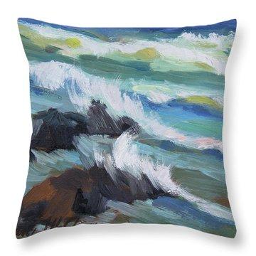 High Tide Baja Throw Pillow
