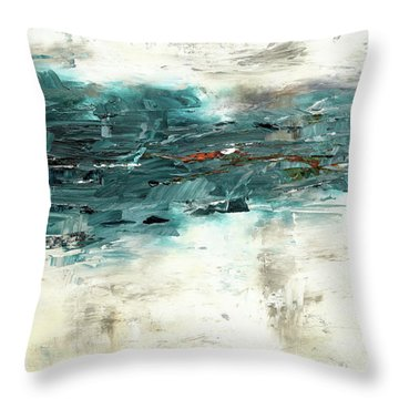 Throw Pillow featuring the painting High Tide by Carmen Guedez