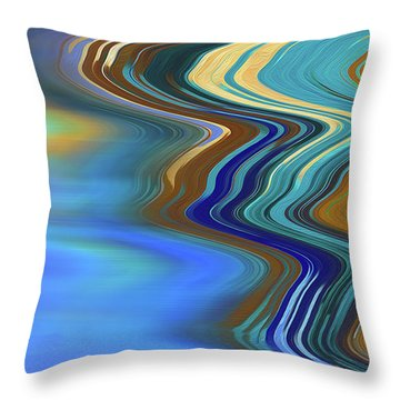 Throw Pillow featuring the digital art High Tide by Gina Harrison