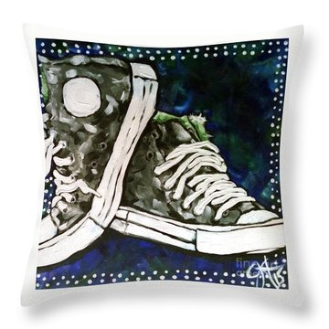 High Top Heaven Throw Pillow by Jackie Carpenter