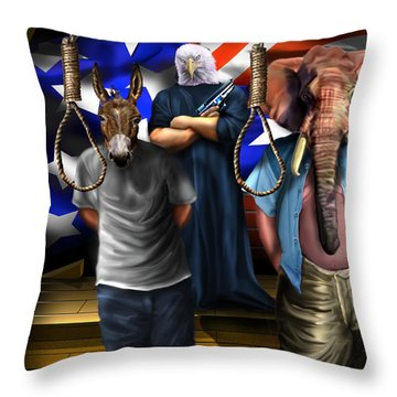 High Treason - State Of The Union-a House Divided1 Throw Pillow by Reggie Duffie