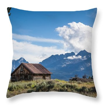 High Valley Cabin 2 Throw Pillow