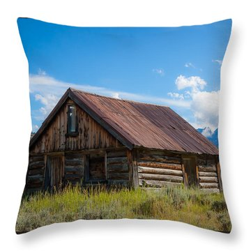 High Valley Cabin Throw Pillow