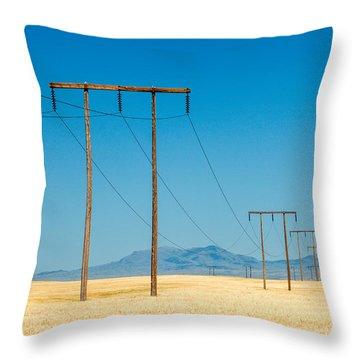 High Voltage Throw Pillow
