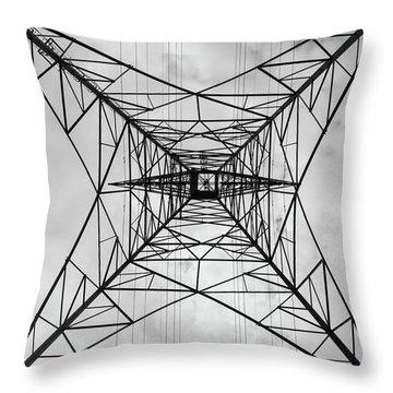 High Voltage Power Throw Pillow