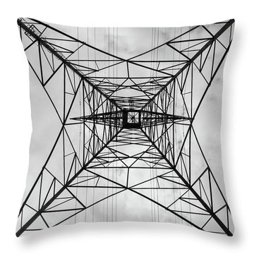 High Voltage Power Throw Pillow