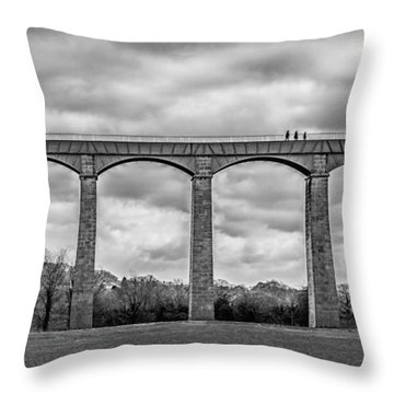 Sky Walkers Throw Pillow