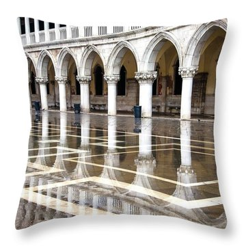 High Water At St. Mark's  Throw Pillow