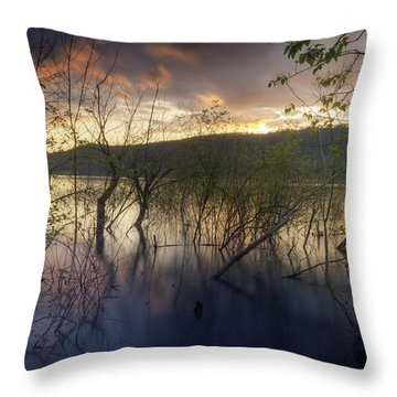 High Water Sunset Throw Pillow