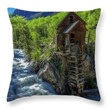 High Waters At The Mill  Throw Pillow