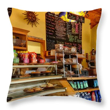 Higher Grounds Coffee In Windham Ny Throw Pillow