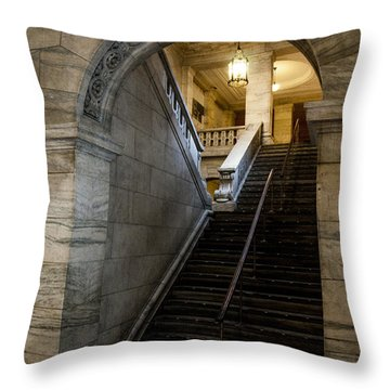 Higher Knowledge Throw Pillow by Allen Carroll