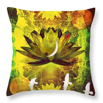 Higher Self Frequency Throw Pillow