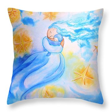 Higher Then The Stars Throw Pillow by Gioia Albano