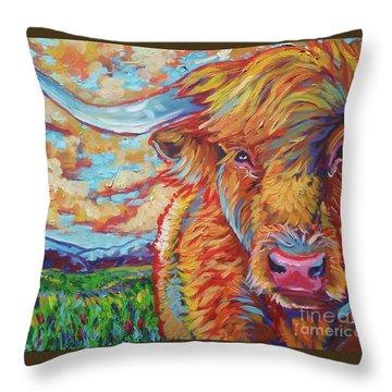 Highland Breeze Throw Pillow by Jenn Cunningham