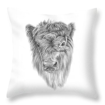 Highland Calf Throw Pillow